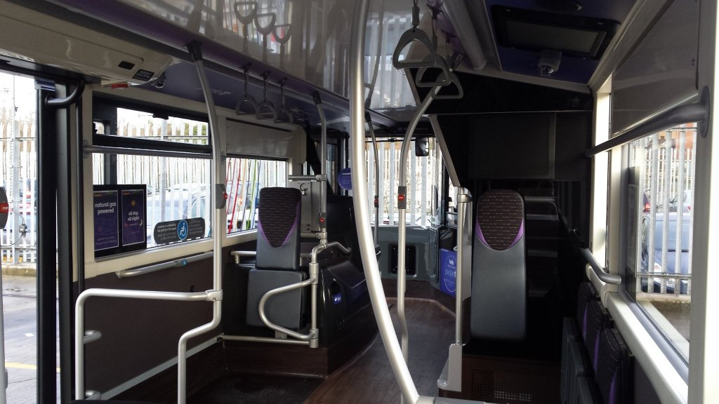 An example of the wheelchair bays on board the new Enviro 400 Citys