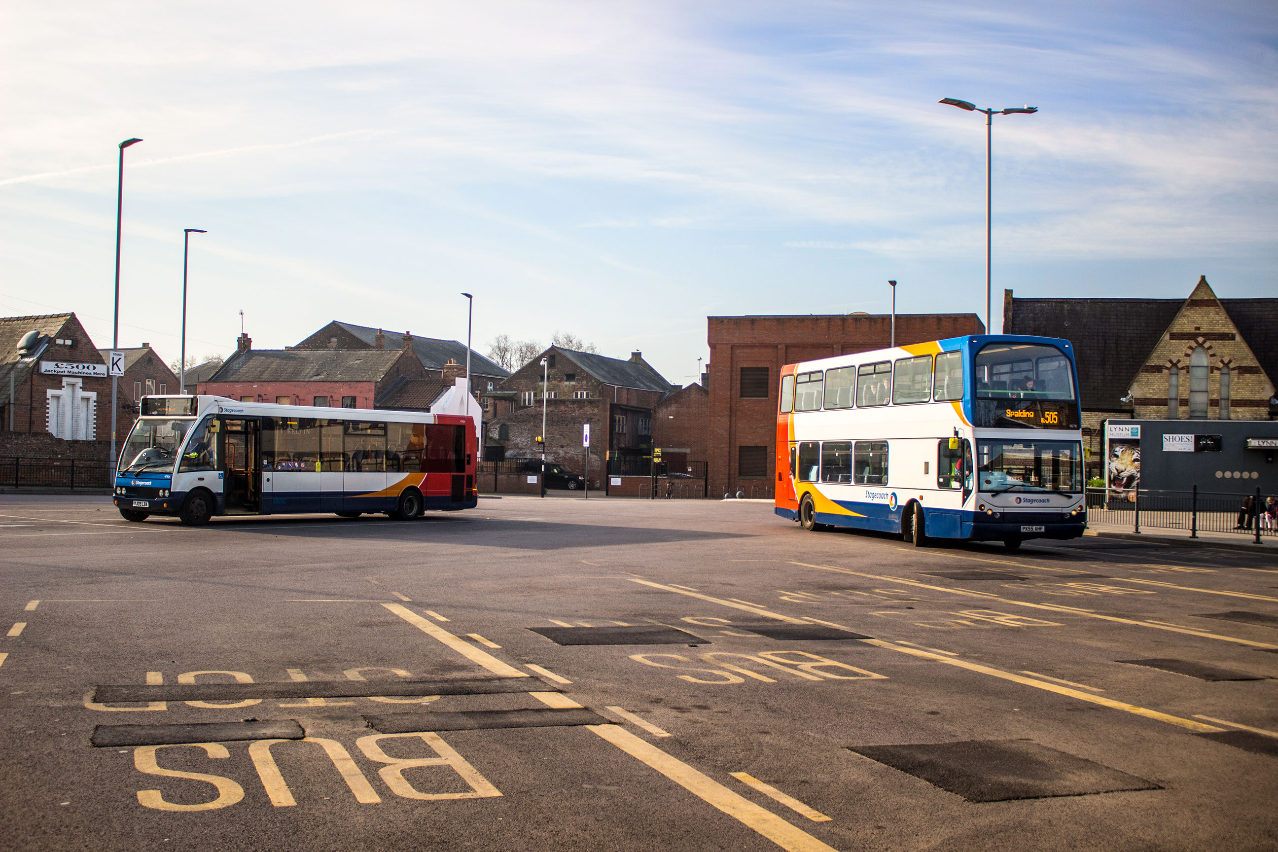 Multiple Stagecoach buses in King's Lynn's bus station